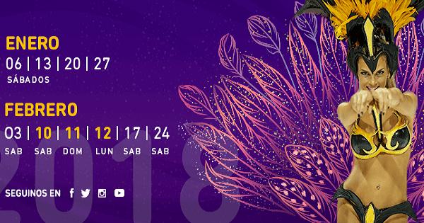 El sábado 6 de enero comienza el Carnaval de Gualeguaychú 2018